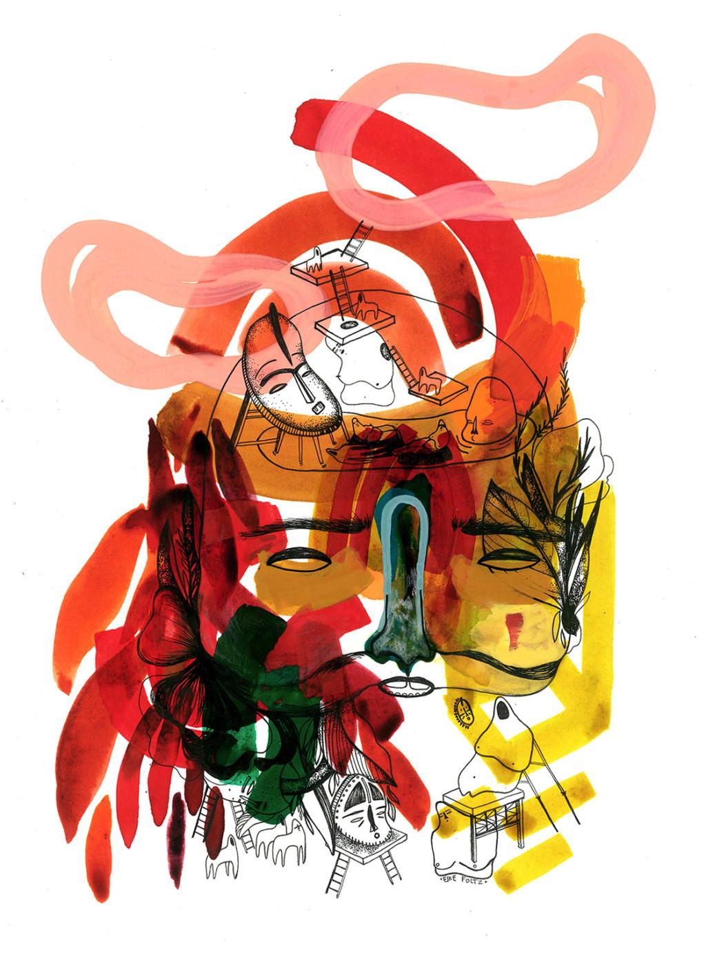 Elke Foltz / Illustration MAZES AND STATUARIES