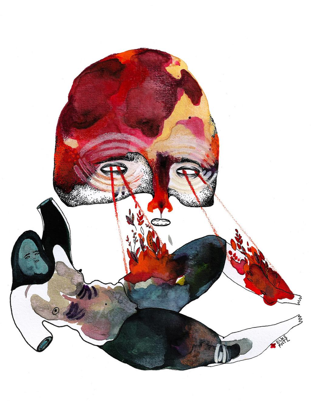 Elke Foltz / Illustration POWER OF MASKS